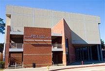 Photo of the brick exterior of the Bobby E Leach Center, FSU's main gym